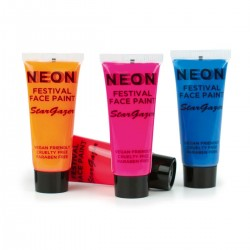Neon Colour body-paint